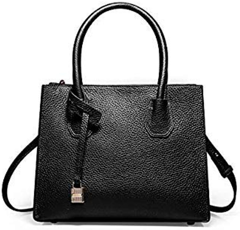 Bloomerang Summer New Genuine Leather Women's Bag Tote Buckle Lock Europe Fashion Handbag Shoulder Cross Body Ladies Bags color Black