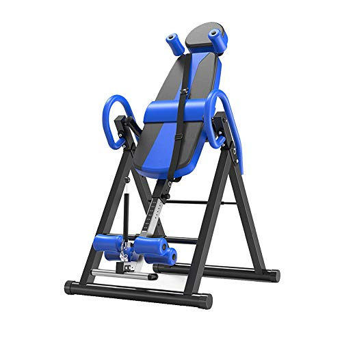 AHELT-J Inversion Table, Adjustable Inverted Machine Inversion Table Fitness Chiropractic Back Stretcher Heavy Duty Reflexology Mat Indoor Body-Building.