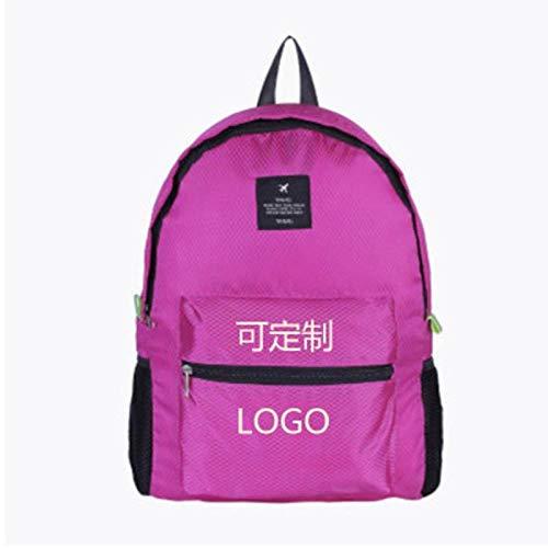ASD Schultasche Outdoor Skin Pack ultraleichter Faltbarer Rucksack tragbarer Studentenkoffer Reiserucksack wasserdichter Bergsteigenbeutel weiblicher rosaroter rosaroter Diamant