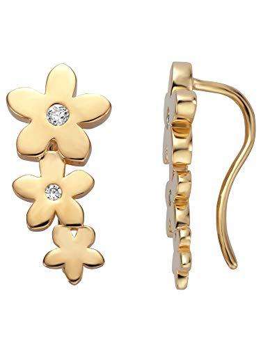 Esprit Ohrringe ESER01221200 Damen Ohrstecker Blume Bloom Silber 925 Gold weiß
