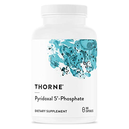 Thorne Research - Pyridoxal 5'-Phosphate - Bioactive Vitamin B6 (Pyridoxine) Supplement for Energy Production and Neurotransmitter Synthesis - 180 Capsules