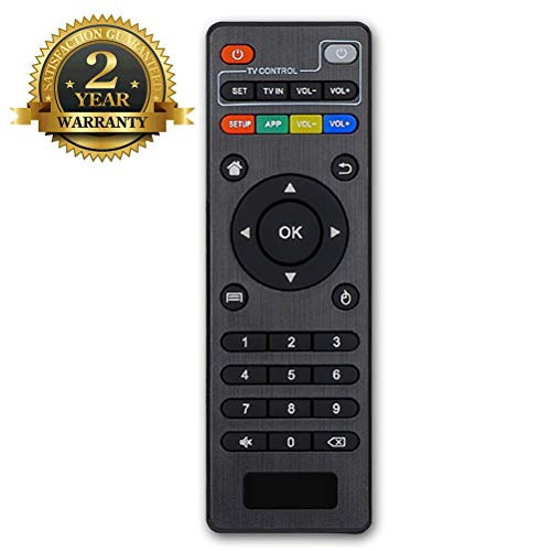 Bincolo Original Replacement Remote Control Controller for Android TV Box MXQ, MXQ PRO, MXQ-4K, M8S, M8N, T95, T95M, T95N, T95X, X96, X96mini, H96, H96 Pro, Black