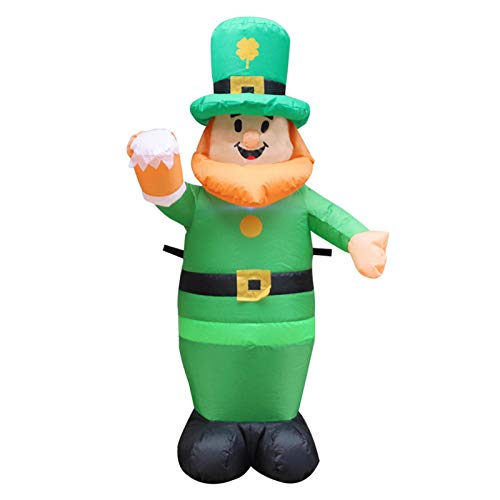 Hengjierun St Patricks Day Inflatable Irish Party Decor B/low up L/eprechaun, Outdoor garden decoration Fun Holiday Party Yard Blow Up Irish Day Decorations