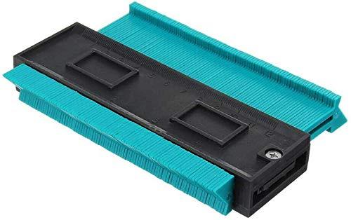 JTMIX 型取りゲージ コンターゲージ 測定ゲージ ABS目盛付き 両側ロック式 DIY用測定工 曲線定規 コンパス ロファイルゲージ 不規則な測定器 高精度 12CM グリーン