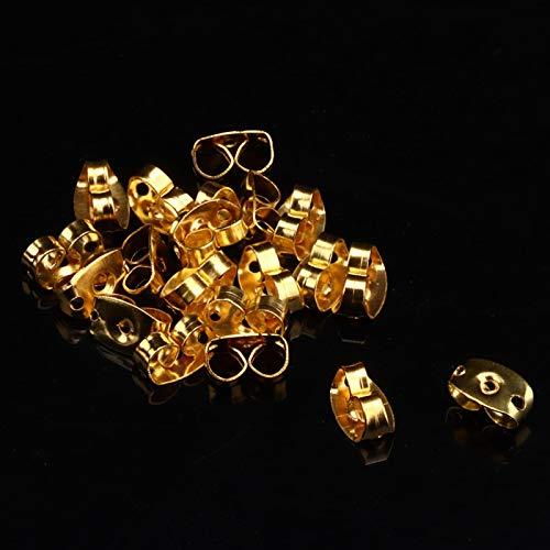 Tapones de aretes ligeros 160pcs Earnuts Earnuts de metal, para joyería