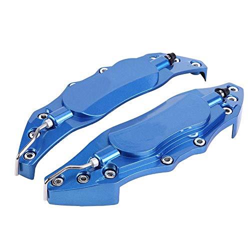 KIMISS 2 stücke Auto Bremssattel Schutz, Aluminium Bremssattel Abdeckung für Radnabe 16in-17in Medium(blau)