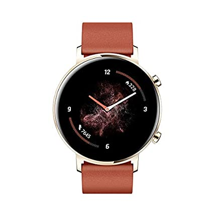 "Huawei Watch GT 2 - Smartwatch con Caja de 42 mm, hasta 1 Semana de Batería, Pantalla táctil AMOLED 1.2"", GPS, 15 Modos Deportivos, Pantalla 3D de Cristal, monitorización cardíaca, Rojo"