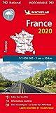 Carte Michelin France Indéchirable 2020