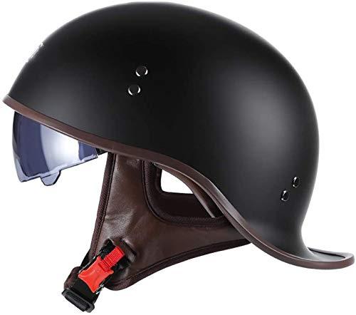 Medio casco Casco de motocicleta, Para scooters de calle, bicicletas, Machetes, Casco...
