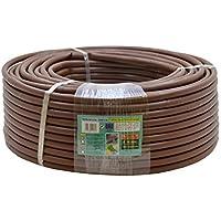 S&M 544316 Manguera de riego Flexible con goteros Integrados 16 mm 0,33 m x 100 m, Color marrón