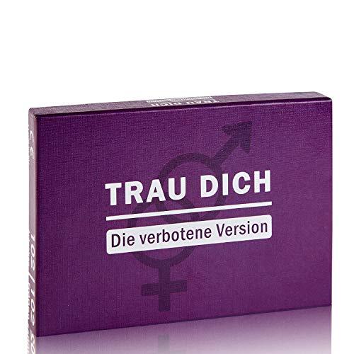 Kulinu Premium Fragespiel TRAU Dich - Die verbotene Version - Fragespiel für die perfekte Party - Wahrheit oder Pflicht - Lustige und Heisse Fragen - umfangreiches Kartenspiel