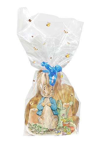 Creative Party Confezione di Sacchetti per Sacchetti in cellophane Trasparente Peter Rabbit 20