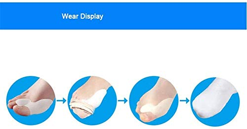 KEKEYANG Toe orthosis 2 Pairs Bunion Cushion Set for Women and Men, Reusable Bunion Shields, Relieve Valgus Pain, Release sleeve (Color : Flesh)