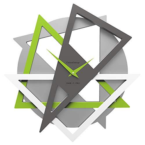 CalleaDesign - Geolo Wanduhr, apfelgrüne Farbe