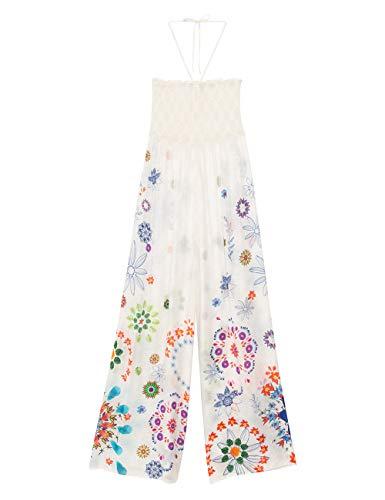 Desigual Damen Pant_Fiji Strandkleid, Weiß (Blanco 1000), 36 (Herstellergröße: S)