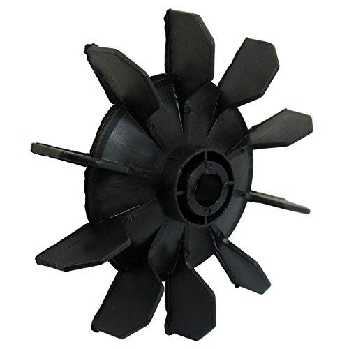 SODIAL (R) Air Kompressor Artikel Schwarz Kunststoff 14mm Innen-£¿. Zehn Vanes Motor Fan Blade