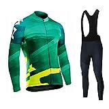 Jersey De Ciclismo for Hombre,Camisetas De Manga Larga,Camisetas De Ciclismo De Carretera,MTB,Transpirable,Conjunto De Ropa De Bicicleta De Secado Rápido (Color : A, Size : S)