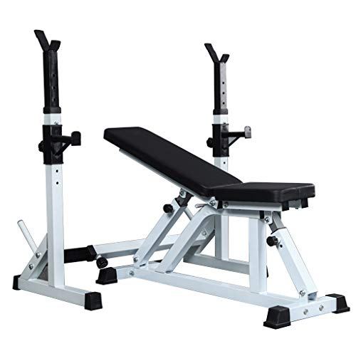 Adjustable Benches Squat Rack Weight Table Household Multifunctional Abdominal Board Squat Rack Bench Press Rack Weight Bed Weight Rack Benches (Color : Black)