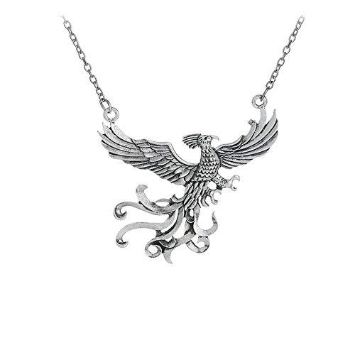 Collar con colgante de metal Pájaro de fuego Fenix Fumseck