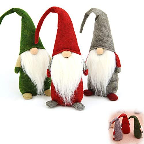 ZSZBACE Weihnachtswichtel Set, Dekofigur Weihnachtsdekoration, Weihnachtsmann Santa Tomte Gnom, Weihnachten Zwerg Geschenke für Kinder Familie Freunde (Standing Wichtel)