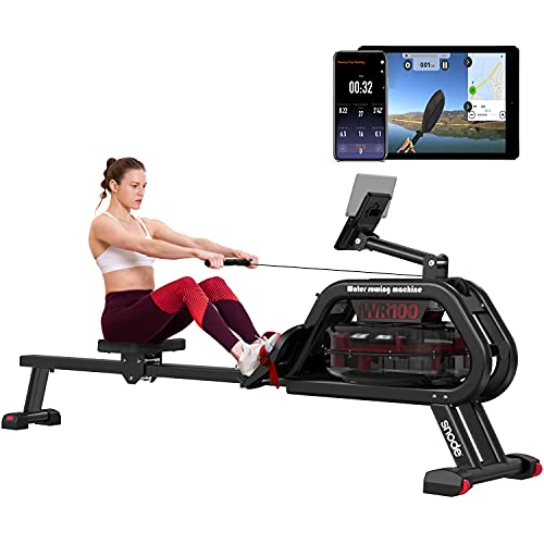 SNODE WR100 Water Rowing Machine with Bluetooth APP ...