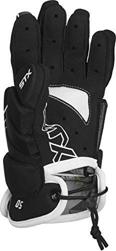 STX Lacrosse Stallion 50Gants, Noir, 2x -Small