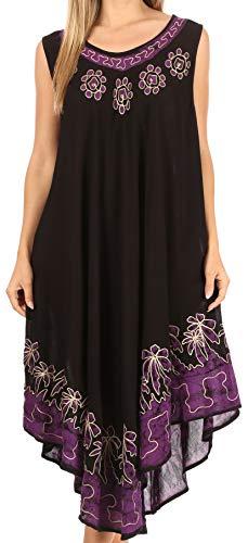 Sakkas 40SE Sundari Kaftan-Behälter-Kleid/Cover Up - Aubergine - One Size