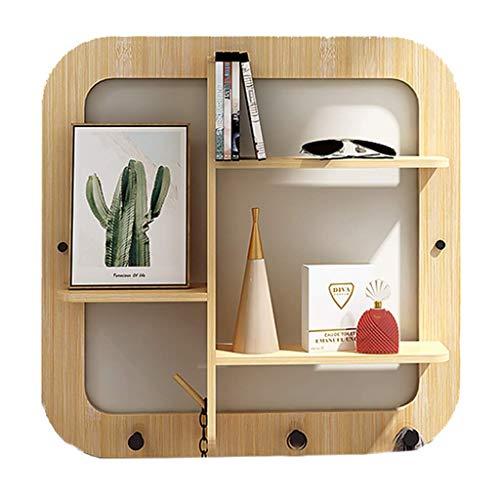 Zyl Estantes flotantes de almacenamiento de pared para dormitorio, estantes flotantes de pared, decoración de oficina, estantes colgantes de plantas, decoración de pared de la sala de estar