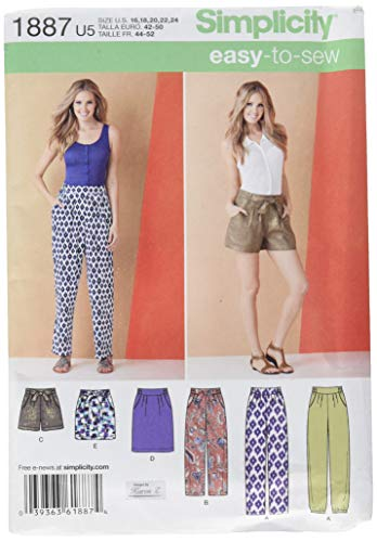 Simplicity 1887.U5 Patrons Pantalons et Jupes de Miss Taille 44/46/48/50/52