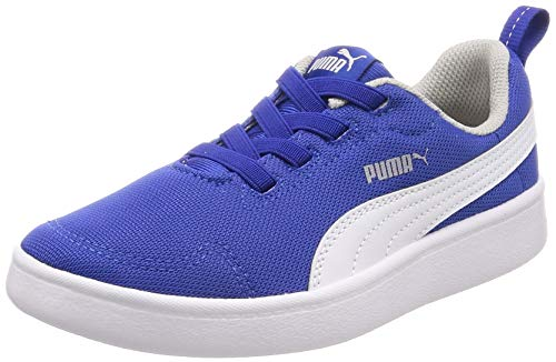 Puma Sneakers Bambino COURTFLEX Mesh PS 364277.15 (33-15 Blue-White)