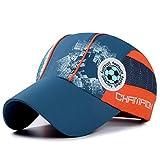 IBLUELOVER - Gorra de béisbol para niño, secado rápido, sombrero de malla transpirable ligero, visera anti UV verano para golf, running, fútbol, pesca, alpinismo, azul marino, talla única