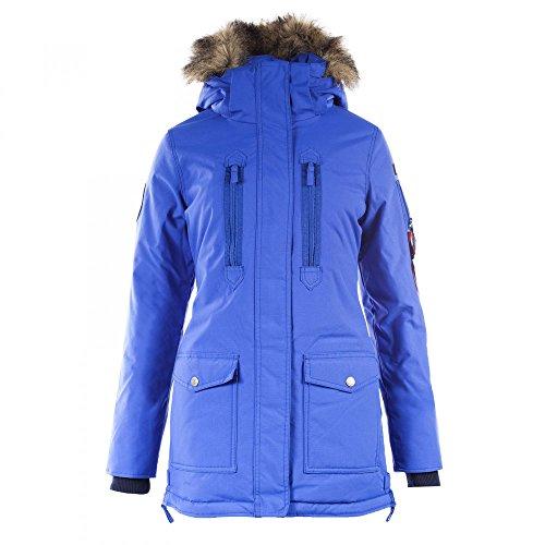 Horze Supreme Brooke Women\'s Long Parka Jacket Lapis Lazuli Blue Small