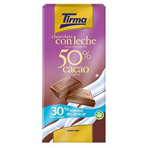 Tirma Chocolate Con Leche 50% Cacao, 30% Menos De Azúcar, 125g