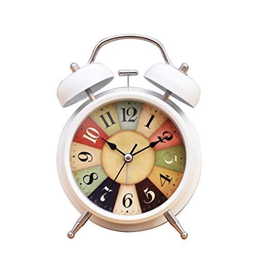WHL Despertador Despertador Al Lado de la Cama Estudiantes silenciosos Creativo Luminoso Dormitorio Simple Moda Infantil Multifunción electrónico Pequeño Reloj Despertador Despertador para cabecera