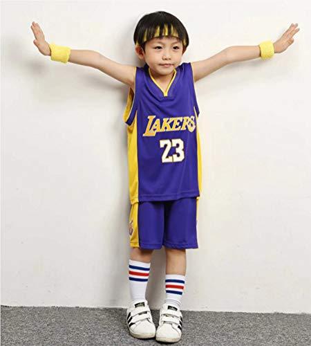 HONGMEI Chicos Chicas Camiseta de Baloncesto Chaleco Pantalones Cortos Set#23 Lakers James Uniform 24 Bryant Warriors# 30/#11 Warriors Golden State,04,XS