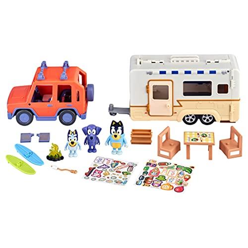 "Bluey Ultimate Caravan Adventures - Caravan Playset and Three 2.5-3"" Figures & 4WD Family Vehicle with 2 Surfboards"