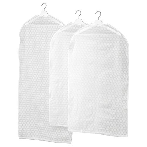 IKEA.. 102.872.52 Pluring Clothes Cover, Set of 3, Transparent White