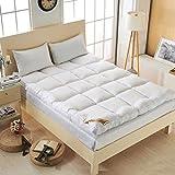 Kunyun Tatami Grueso y cómodo colchón de Tatami/Cama Moda cómodo futón para un Hotel de Cinco Estrellas Siesta Engrosado de un Solo Uso durmiendo (Color : White, Talla : 90x200cm)