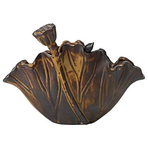 JINGH Cenicero para los Fumadores de malezas, cenicero Complejo Creativo, cenicero de malezas, Regalos de decoración de Escritorio (Luang Gold)