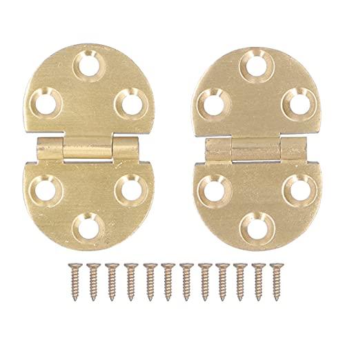 Ladieshow 2 Juegos de bisagras Plegables de Cobre de 180 Grados con Mini bisagra de Solapa de Tornillo para Mesa Plegable 47x30mm
