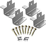 SUNER POWER Upgraded Solar Panel Mounting Z Brackets Kits for RV, Boat, Roof, Wall, etc