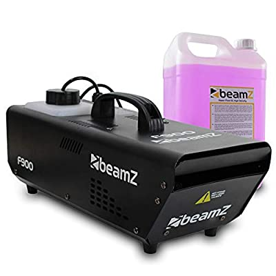 beamz F-900 Watt Remote Control Haze Machine & 5 litre High Density Purple Fluid