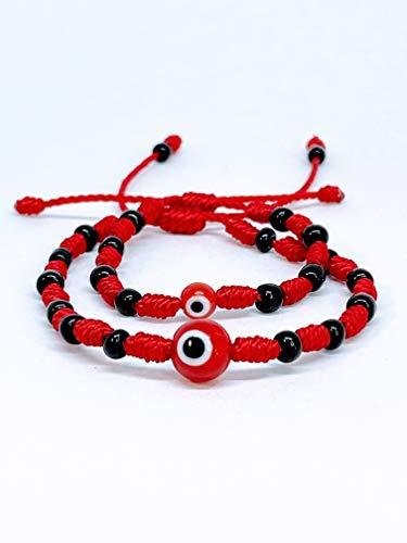 Mommy and me bracelet. Mommy and me evil eye bracelet. Red string braceley set. Knots bracelet. String bracelet. Evil eye bracelet.