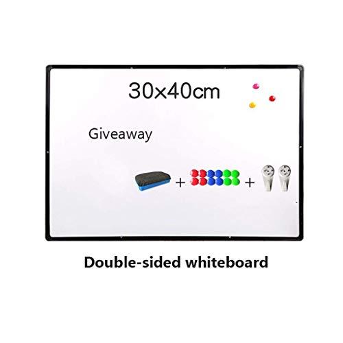 11 7 x 15 6 Zoll magnetische trocken abwischbare weiße Tafel mit verlängertem Stiftfach Radiergummi magnetischen Perlen hängenden Haken doppelseitigem Whiteboard für Klassenzimmer Schule Bür