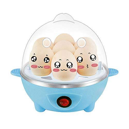YUWEX Schnell Eierkocher für 7 Eier Multifunktion kochzubehör weiche harte gekochte Eier automatische Timer Abschaltung klein
