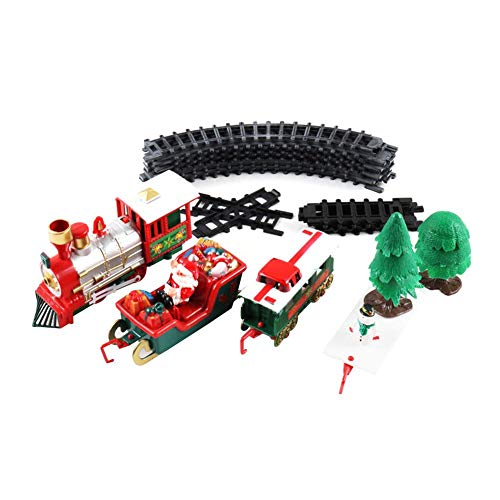 Katurn Weihnachten Zug Spielzeug - Elektrotriebwagen Zug Spielzeug, Elektrische Pädagogische Spielzeug Eisenbahn Zug Set Racing Road Transport Gebäude Spielzeug Für Kinder