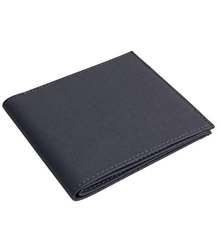 [Dom Teporna] 極薄 二つ折り財布 メンズ 薄い 牛革 レザー YKKファスナー シンプル お札入れ 小銭入れ カード入れ 薄型 財布 レディース ブラック