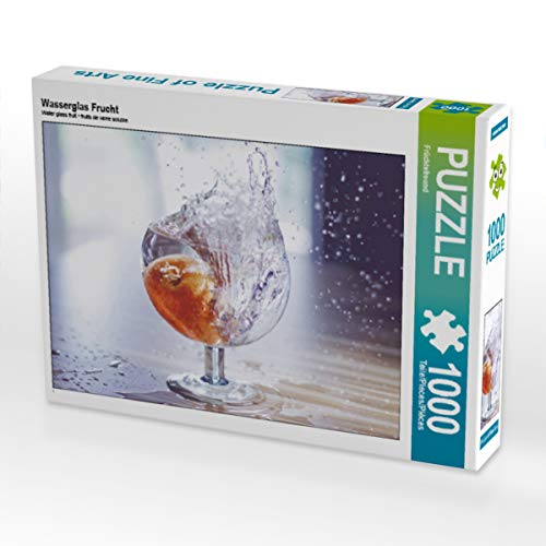CALVENDO Puzzle Wasserglas Frucht 1000 Teile Lege-Größe 64 x 48 cm Foto-Puzzle Bild von Gerd Matschek