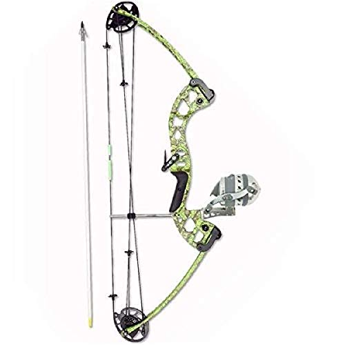Muzzy Bowfishing Vice Bowfishing Kit with Compound Bow, Pre-Spooled Reel, Arrow Rest and Arrow – Right Hand, Green, One Size, 7905