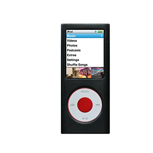 Silicone Case for iPod Nano 4th Generation, Black, Replacement Part from Complete TuneBand Package, Silicone CASE ONLY